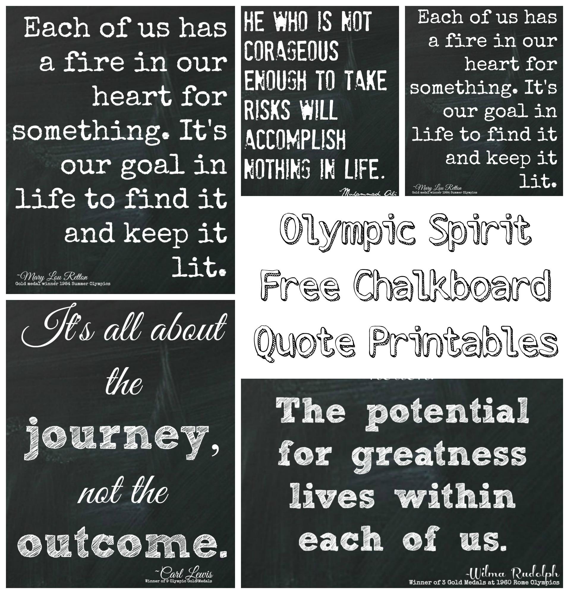 Inspirational Chalkboard Printables