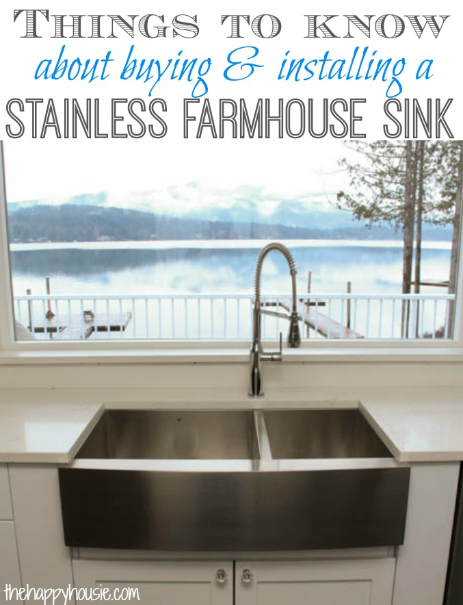 a stainless steel farmhouse style sink