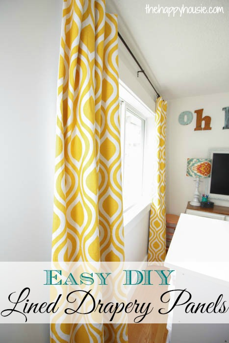 easy diy lined drapery panels orc week