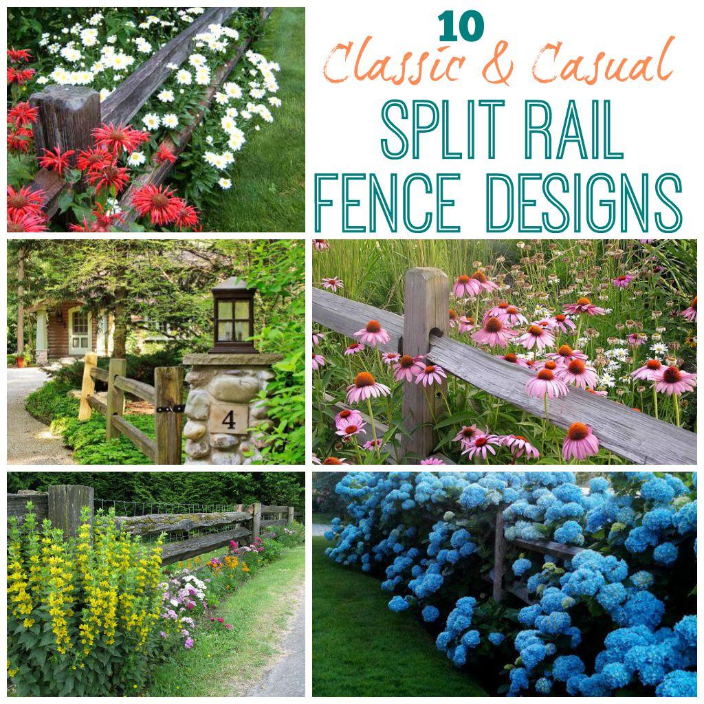 Housie Inspiration: Classic & Casual Split Rail Fences ... on Split Garden Ideas id=21041