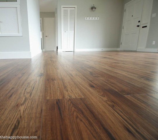 10 Great Tips for a DIY Laminate Flooring Installation   The Happy     Completely transform your home with DIY laminate flooring by Kaindl from  The Home Depot Canada