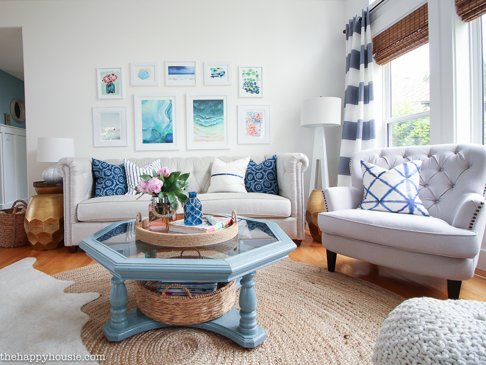 Lake House Summer Home Tour Part Two: Our Living Room