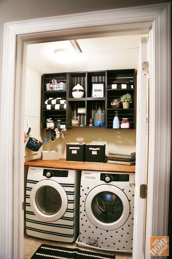 Beautifully Organized Small Laundry Rooms   The Happy Housie on Small Laundry Room Organization Ideas  id=87706