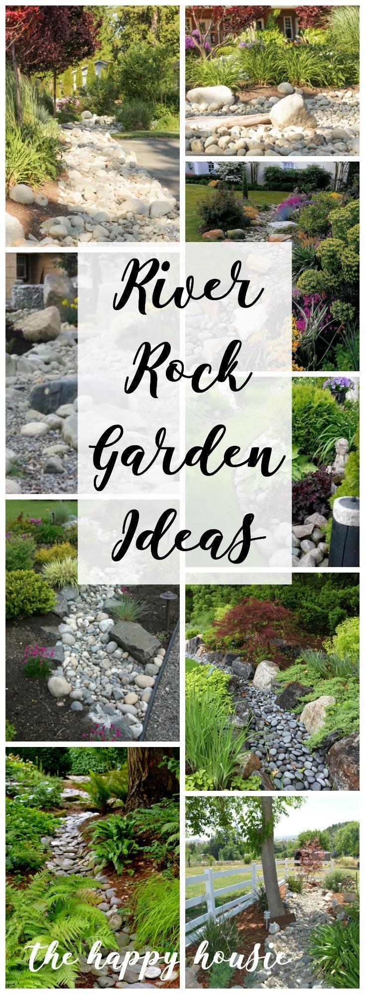 Landscaping with River Rock & Dry River Rock Garden Ideas ... on Backyard Rock Garden Ideas id=85044