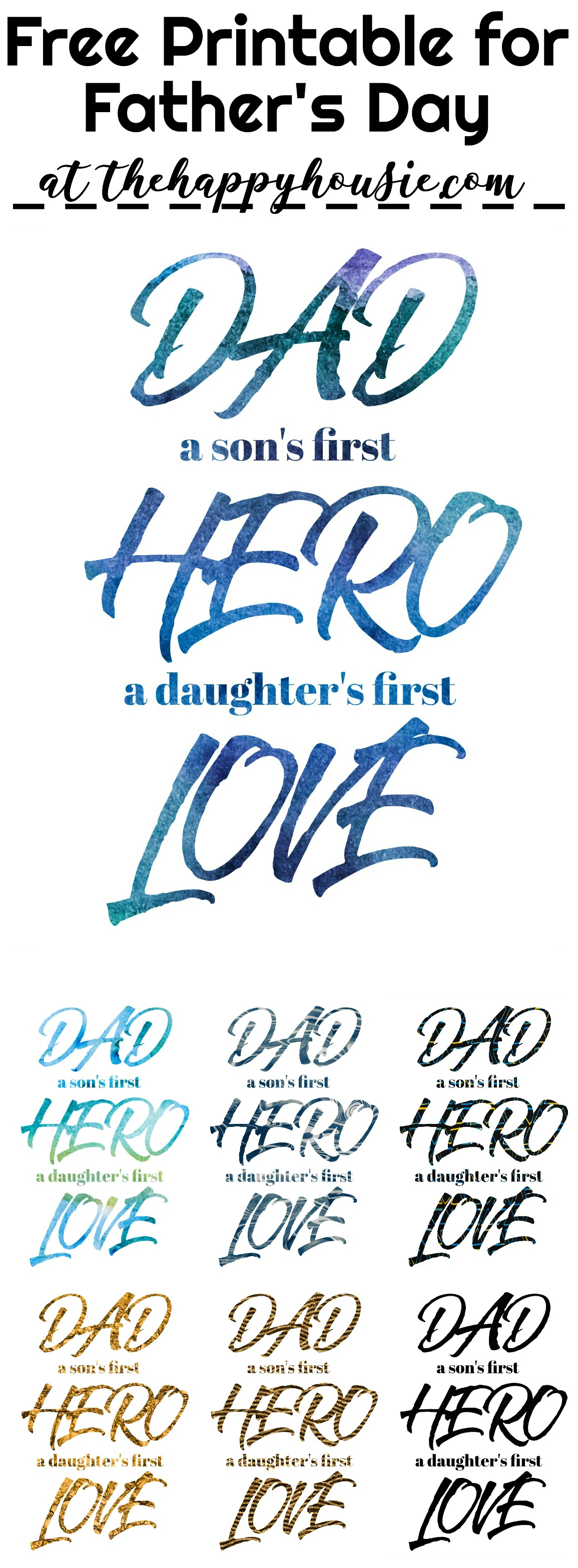 3 Fab Father S Day Free Printables In Tons Of Colours