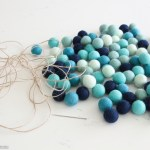 Ombre Beachy Diy Felt Ball Garland The Happy Housie