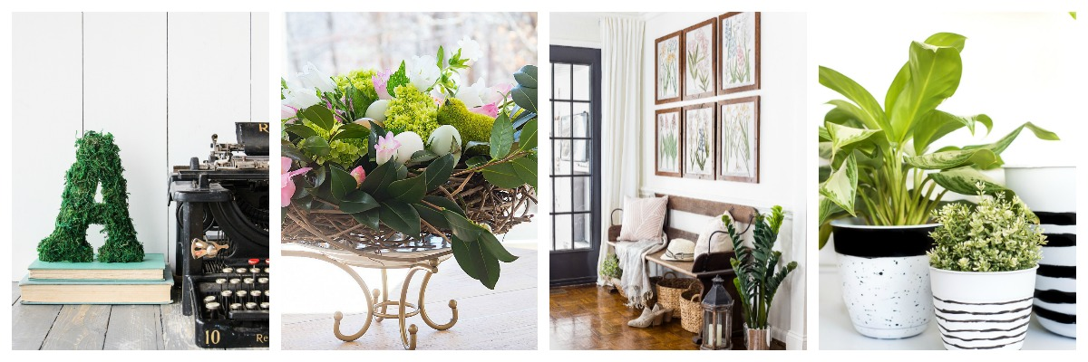 DIY Spring Floral Birdu0027s Nest Centrepiece At Duke Manor Farm · Spring  Botanical Gallery Wall Printabls At Blessu0027er House · Easy Painted Planters  At Place Of ...