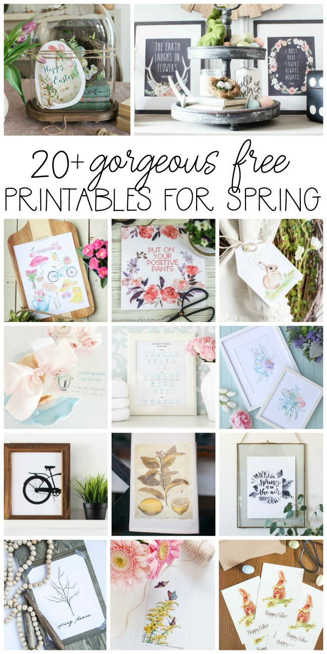 8 Brand New Free Spring Printables - Spring Quotes, Watercolors & Chalkboards