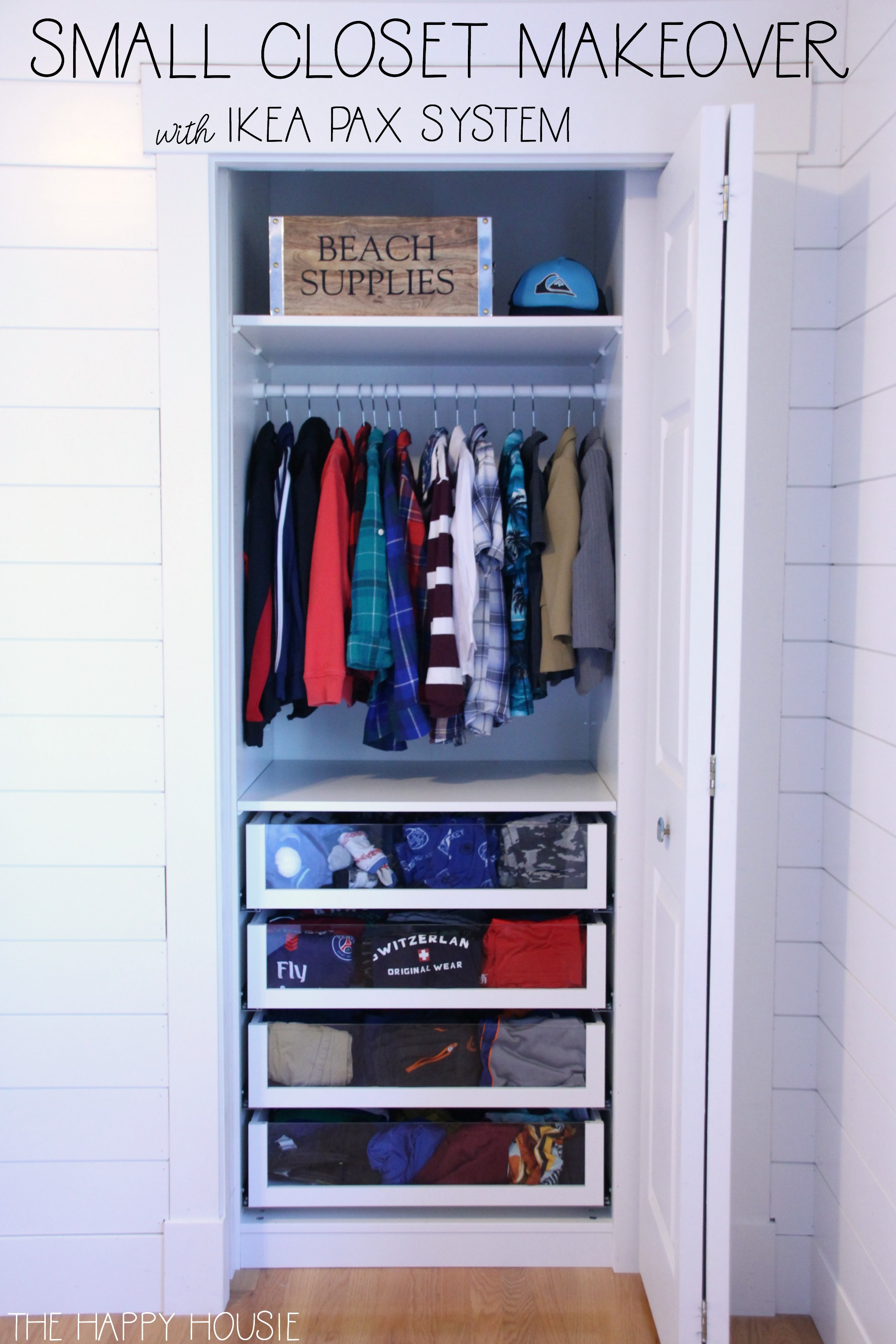Small Reach In Closet Makeover With Ikea Pax The Happy Housie
