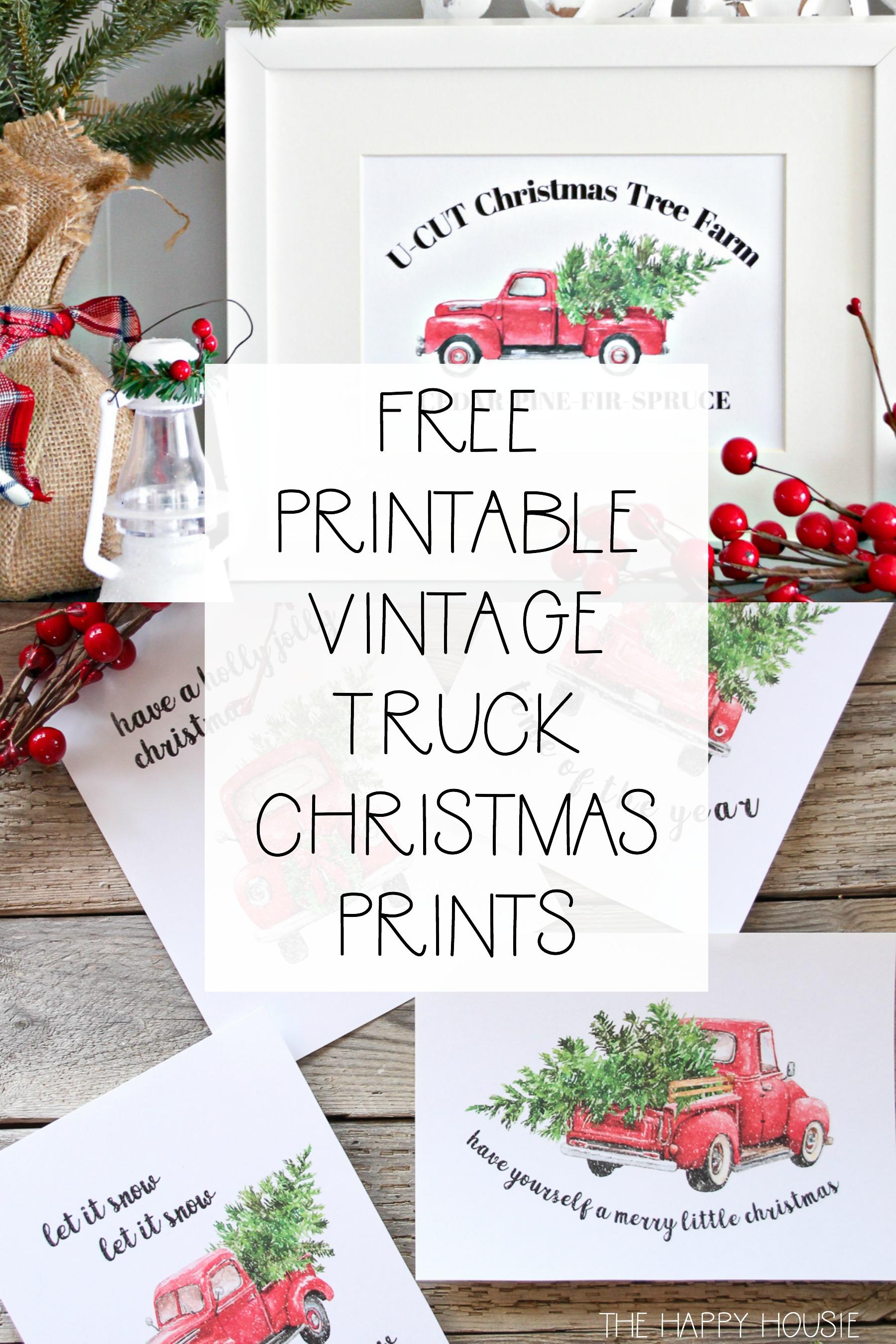 5 Free Vintage Truck Christmas Printables
