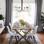 Simple Boho Chic Spring Dining Room Tablescape The Happy Housie
