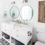 Fresh Modern Main Bathroom Renovation On A Big Box Store Budget The Happy Housie