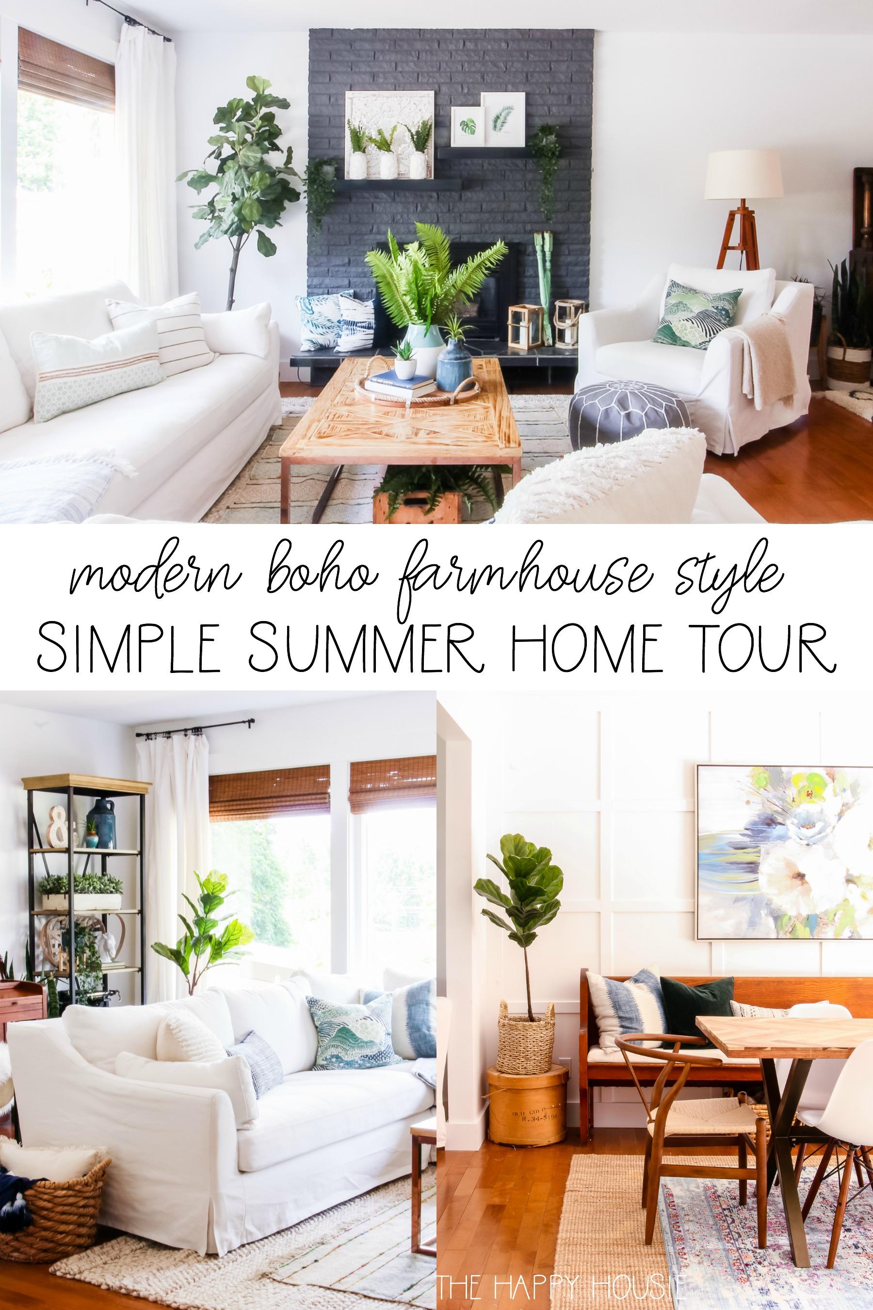 Modern Boho Farmhouse Style Simple Summer Home Tour | The ... on Modern Boho Decor  id=69339