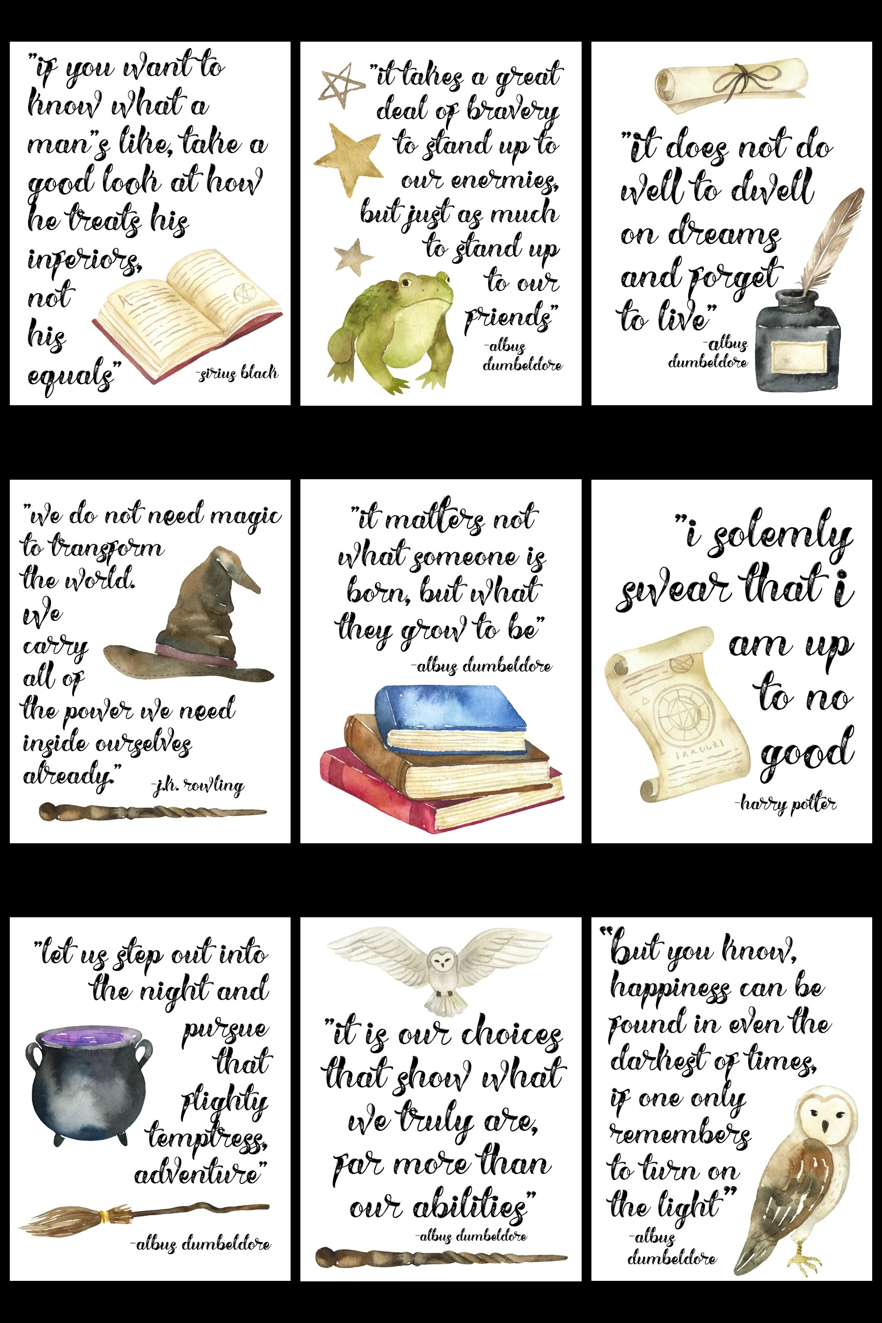 Free Printable Famous Harry Potter Quote Series