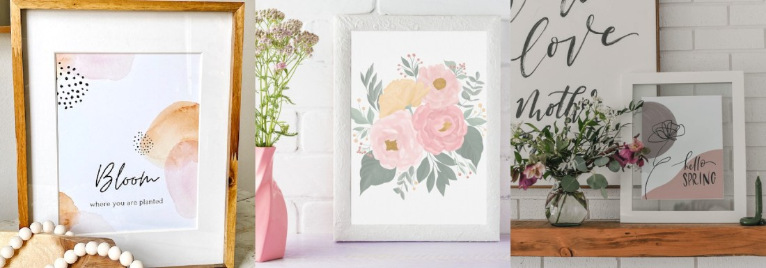 Printable Floral Card by popular Phoenix lifestyle blog, Love and Specs: image of printable spring art.
