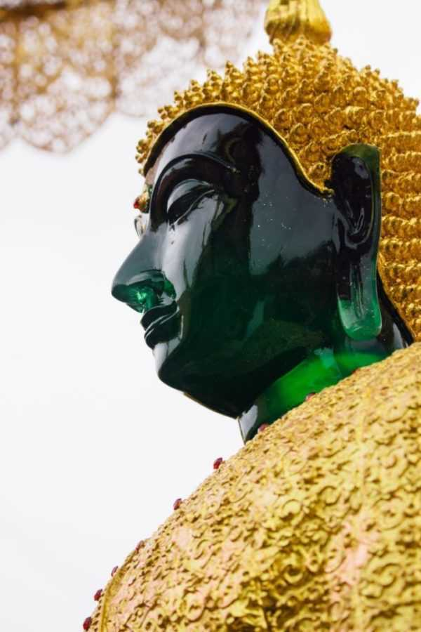 Buddha Emerald green and gold
