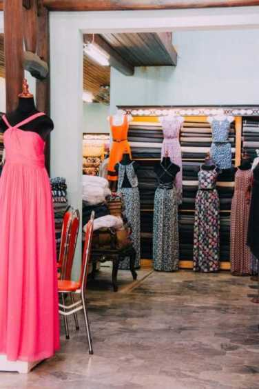 Fabric and dresses in Hoi An