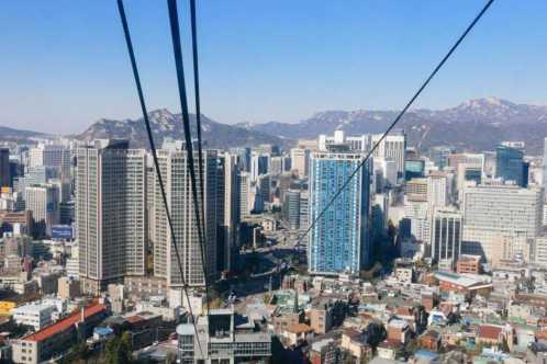 Seoul Sehenswürdigkeiten aussicht namsam tower seilbahn