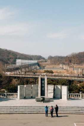 Denkmal Grenze Nordkorea Südkorea