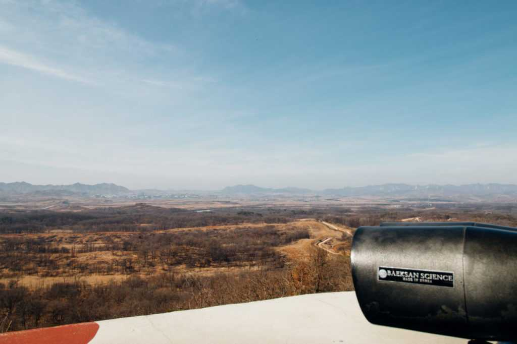 Fernglas Grenze Nordkorea