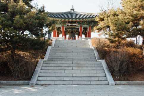 Tempel in Imjingak Park, Südkorea