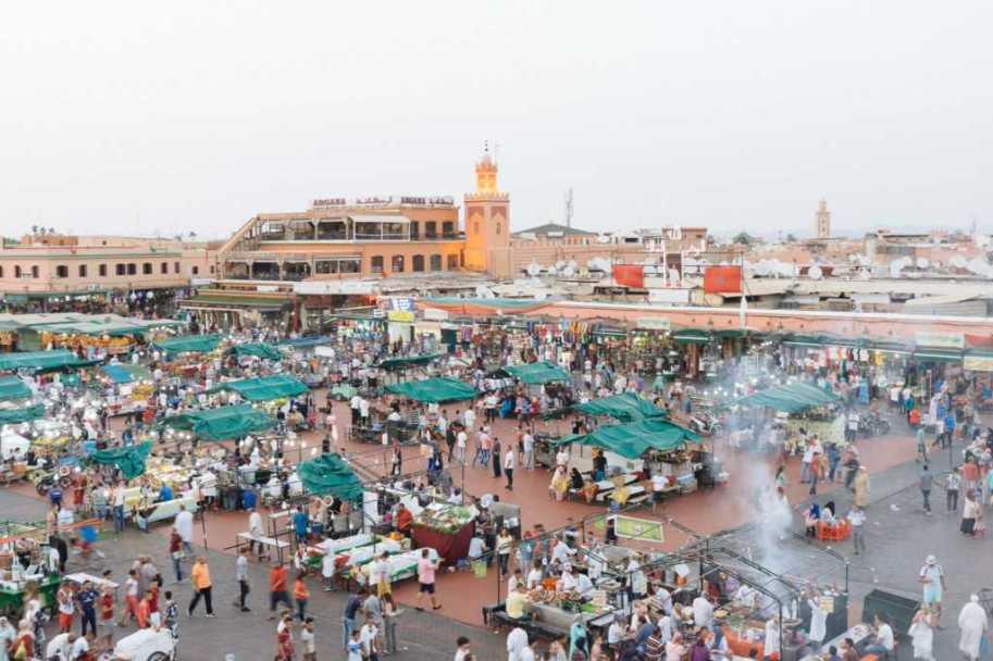 Place Djemaa el Fna, Marrakesch, Marokko