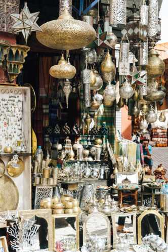 Messing Lampen Marokko Souks Marrakesch