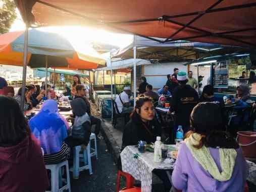 Camreron Highlands Street Food Stand am Straßenrand