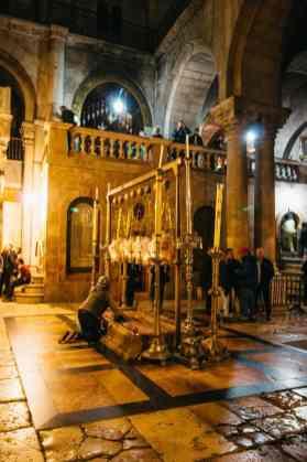Salbungsstein Grabeskirche Jerusalem Israel