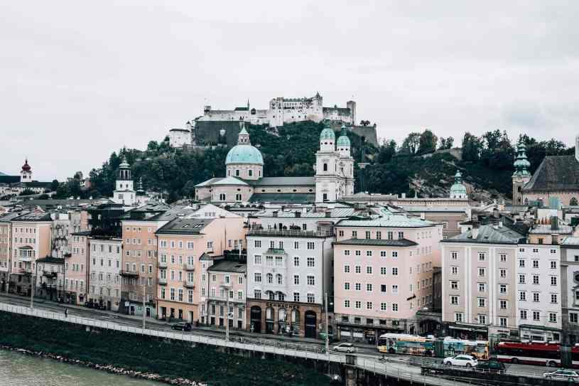 View on Festung Hohensalzburg and Old Town Salzburg