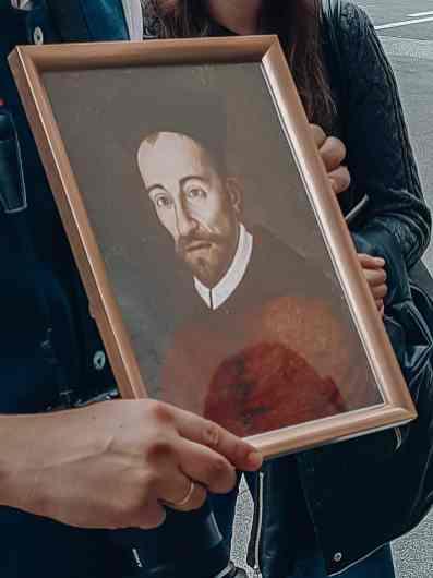 Gerahmtes Bild von Fürsterzbischof Wolf Dietrich