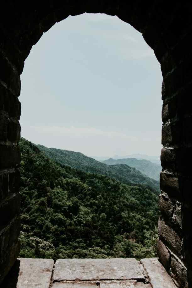 Wachturm Fenster Chinesische Mauer