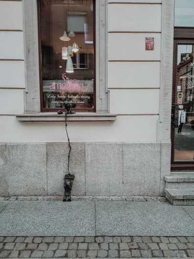 Breslau Sehenswürdigkeiten Breslauer Zwerg an Eisdiele