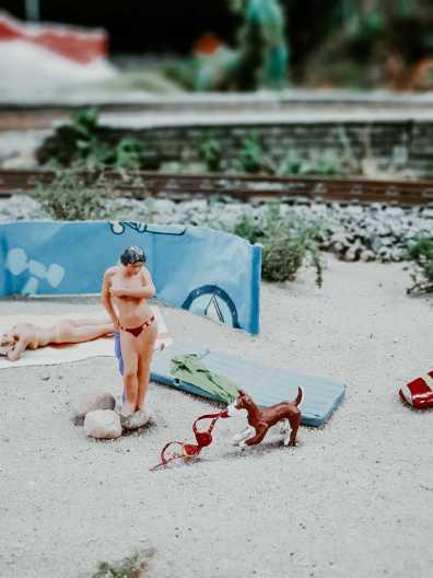 Breslau Sehenswürdigkeiten Miniaturland in Breslau mit Figuren