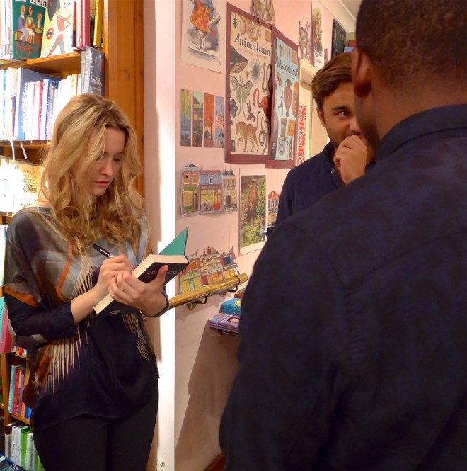 Talulah Riley book signing at Daunt Books holland park during the book launch for Acts of Love