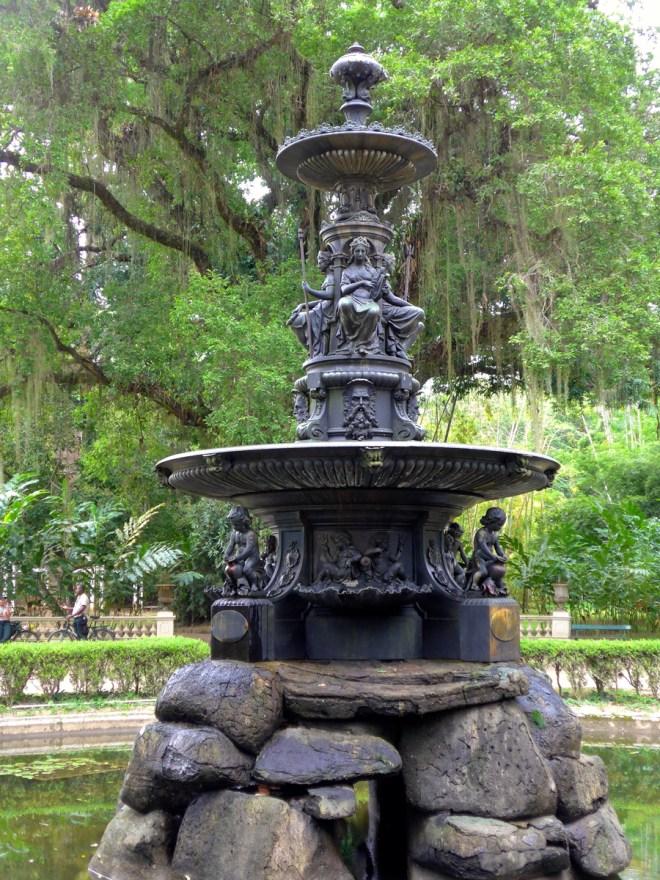 Botanical Garden Rio de Janeiro - Jardim Botanico do RIo de Janeiro - Fountain of the Muses