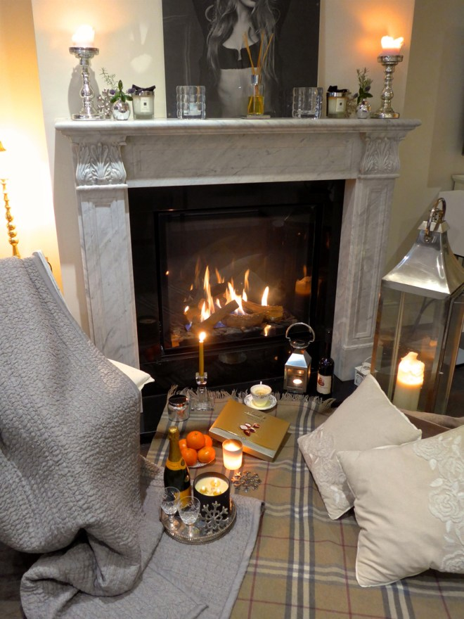 Creating-a-Hygge-atmosphere by the Fireplace
