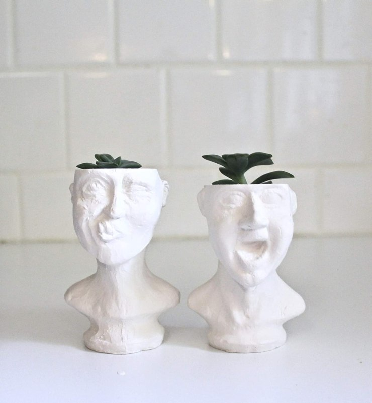 Whimsical Men Face Planters