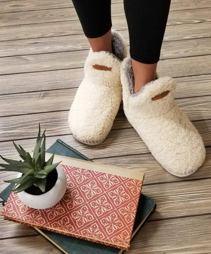winter survival cozy slippers