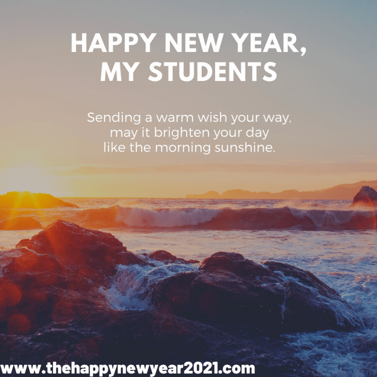 Happy New Year 2021 Wishes for Student