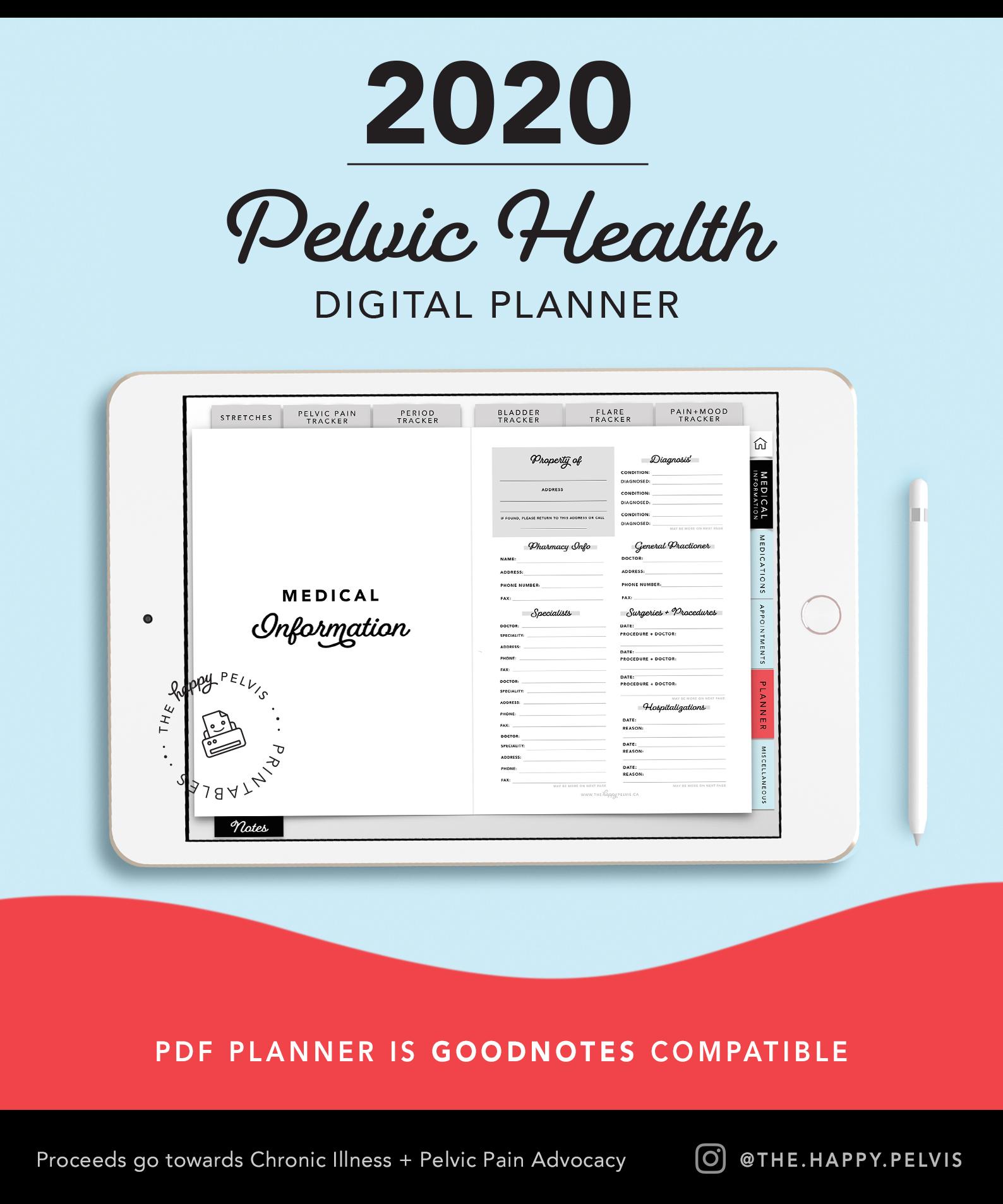2020_Digital_Planner_Medical_Pelvic Health