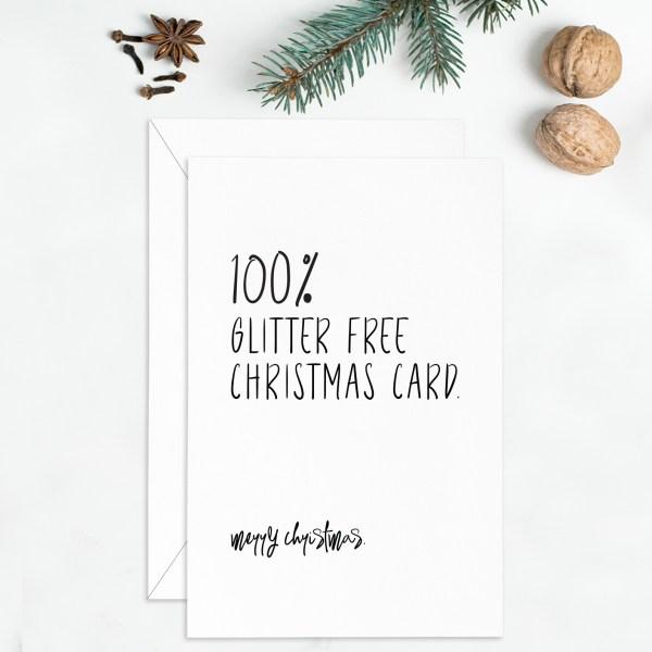 Glitter Free Christmas Card