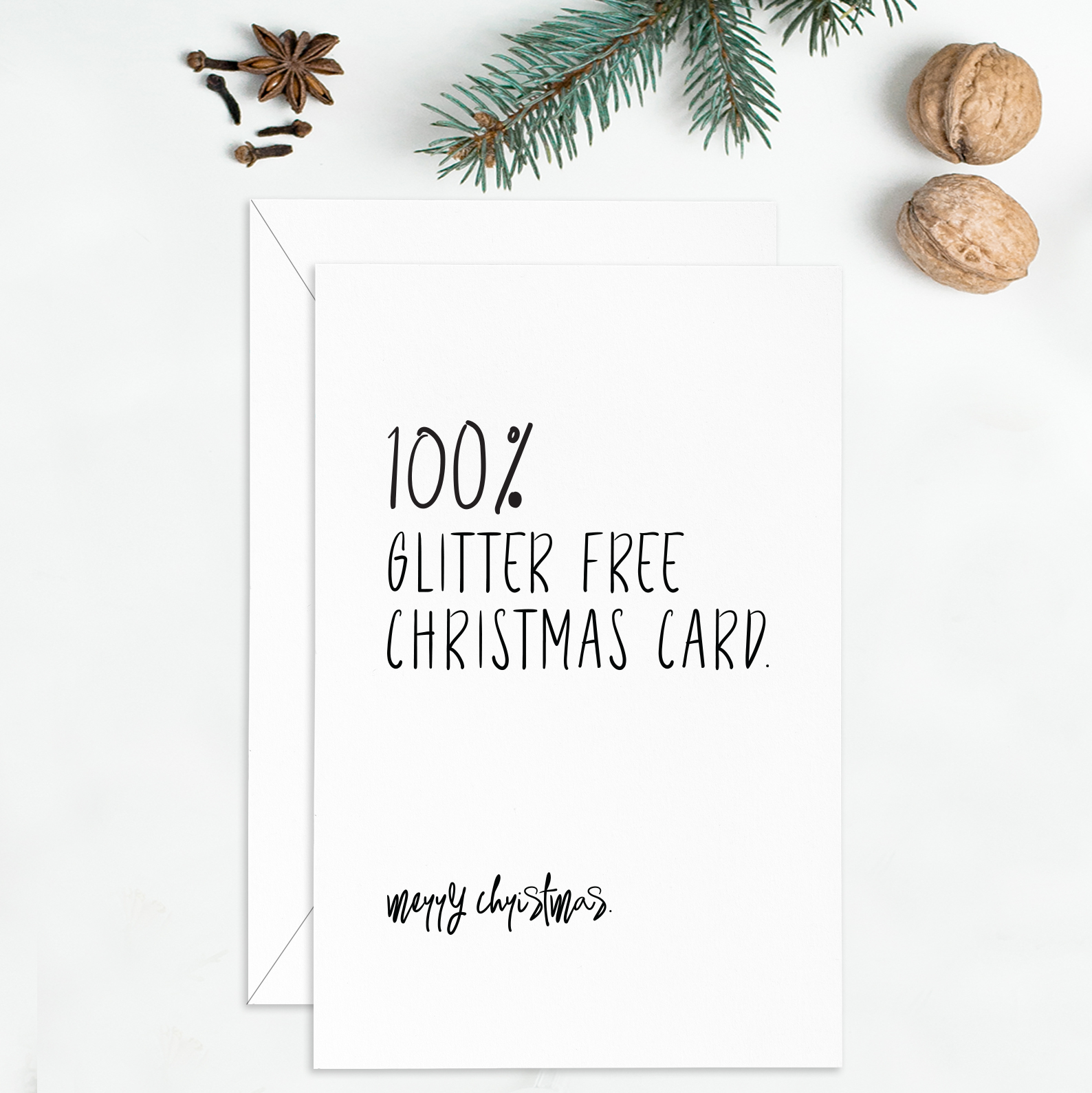 Glitter Free Christmas Card