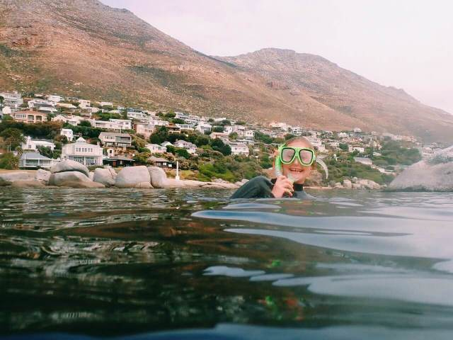 A-Frame freediving site in Cape Town