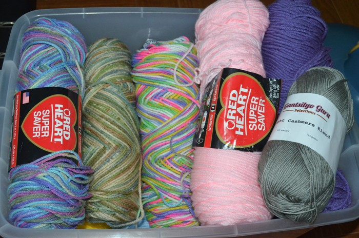 The Happy Work-At-Home Mom's Yarn Collection
