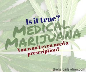 medical marijuana - no rx