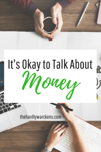 okay to talk about money