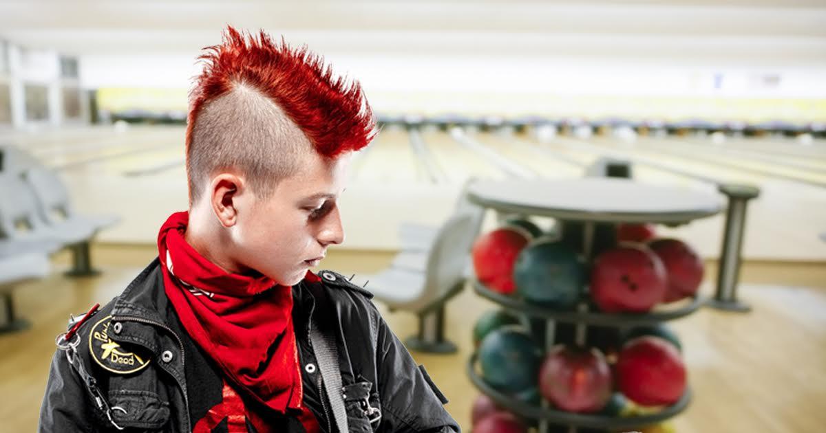 Punk Rock Bowler Keeps Hitting Same Three Pins