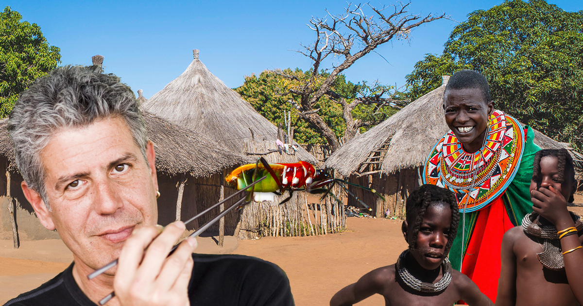 Anthony Bourdain Convinced to Eat Bugs by Tribe Who Does Not Eat Bugs