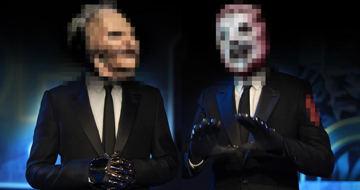 Exclusive: Photos of Daft Punk UNMASKED Then RE-MASKED With Slipknot Masks